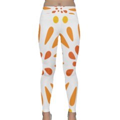 Circle Orange Classic Yoga Leggings by Alisyart