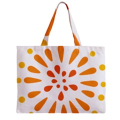 Circle Orange Zipper Mini Tote Bag by Alisyart