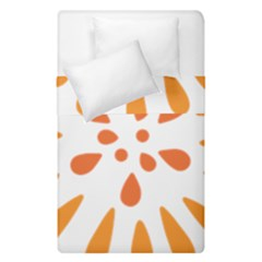 Circle Orange Duvet Cover Double Side (single Size) by Alisyart