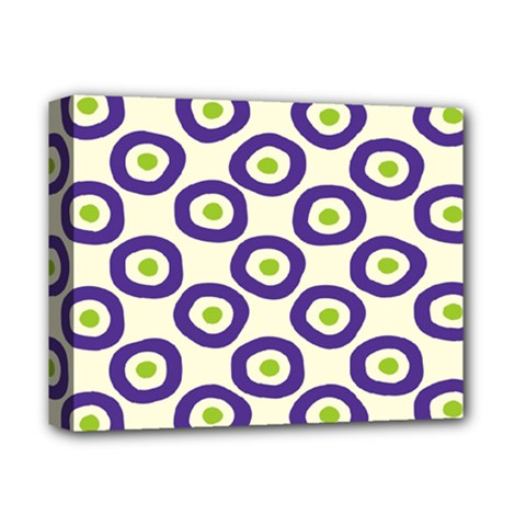 Circle Purple Green White Deluxe Canvas 14  X 11  by Alisyart