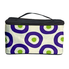 Circle Purple Green White Cosmetic Storage Case by Alisyart