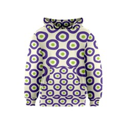 Circle Purple Green White Kids  Pullover Hoodie by Alisyart