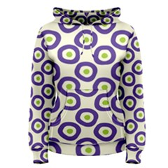 Circle Purple Green White Women s Pullover Hoodie
