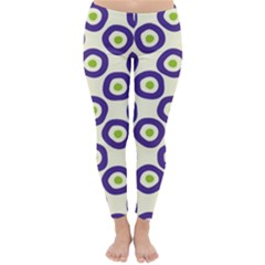 Circle Purple Green White Classic Winter Leggings
