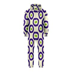 Circle Purple Green White Hooded Jumpsuit (kids)