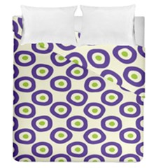 Circle Purple Green White Duvet Cover Double Side (queen Size)