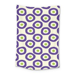 Circle Purple Green White Small Tapestry by Alisyart