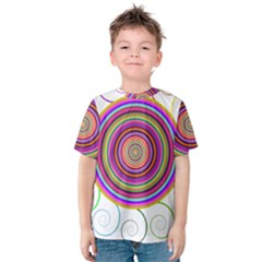 Abstract Spiral Circle Rainbow Color Kids  Cotton Tee by Alisyart