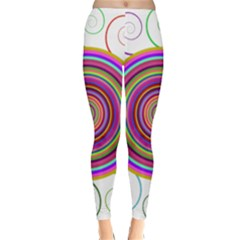 Abstract Spiral Circle Rainbow Color Classic Winter Leggings
