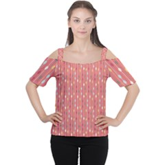 Circle Red Freepapers Paper Women s Cutout Shoulder Tee