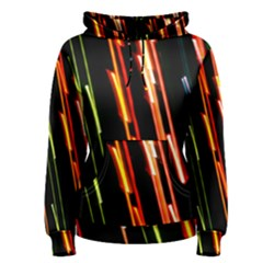 Colorful Diagonal Lights Lines Women s Pullover Hoodie