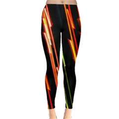 Colorful Diagonal Lights Lines Classic Winter Leggings