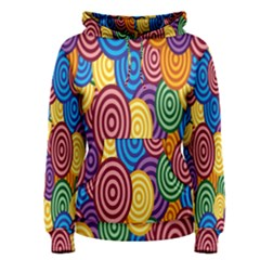 Circles Color Yellow Purple Blu Pink Orange Illusion Women s Pullover Hoodie