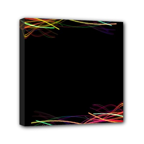 Colorful Light Frame Line Mini Canvas 6  X 6  by Alisyart