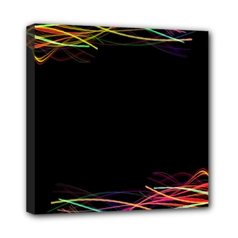 Colorful Light Frame Line Mini Canvas 8  X 8  by Alisyart