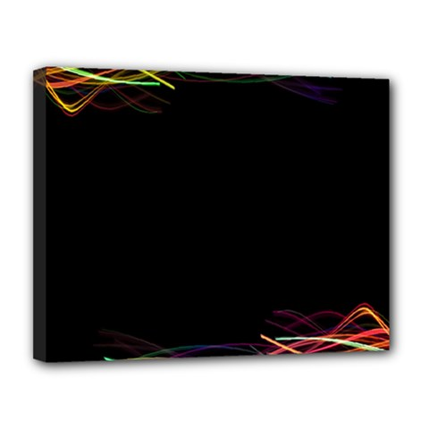 Colorful Light Frame Line Canvas 14  X 11