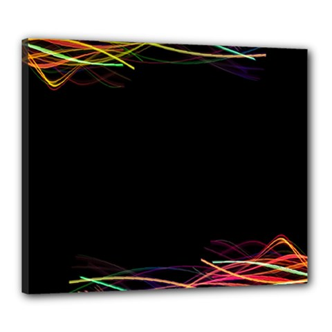 Colorful Light Frame Line Canvas 24  X 20  by Alisyart