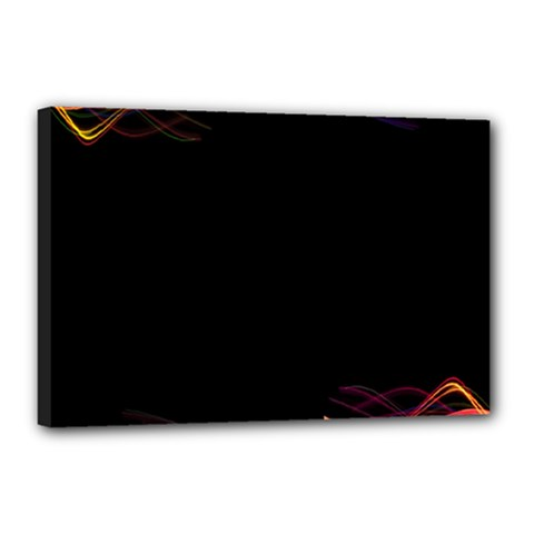 Colorful Light Frame Line Canvas 18  X 12