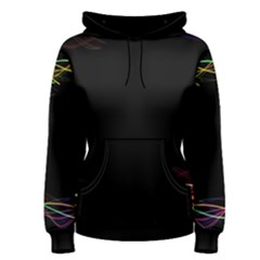 Colorful Light Frame Line Women s Pullover Hoodie
