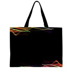 Colorful Light Frame Line Zipper Large Tote Bag by Alisyart