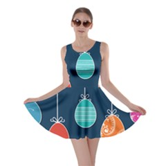 Easter Egg Balloon Pink Blue Red Orange Skater Dress by Alisyart