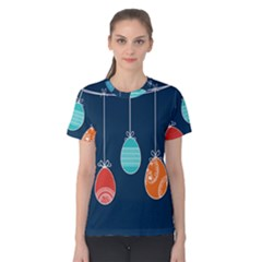 Easter Egg Balloon Pink Blue Red Orange Women s Cotton Tee