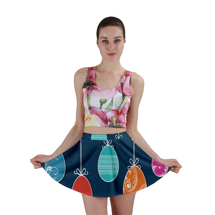 Easter Egg Balloon Pink Blue Red Orange Mini Skirt