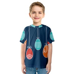 Easter Egg Balloon Pink Blue Red Orange Kids  Sport Mesh Tee by Alisyart