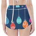 Easter Egg Balloon Pink Blue Red Orange High-Waisted Bikini Bottoms View2