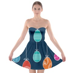 Easter Egg Balloon Pink Blue Red Orange Strapless Bra Top Dress