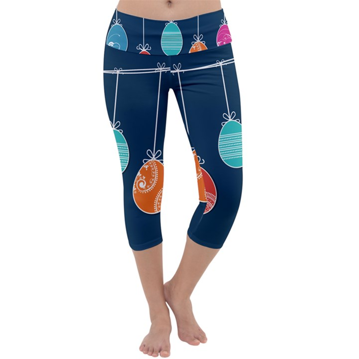 Easter Egg Balloon Pink Blue Red Orange Capri Yoga Leggings