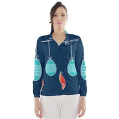 Easter Egg Balloon Pink Blue Red Orange Wind Breaker (women) by Alisyart
