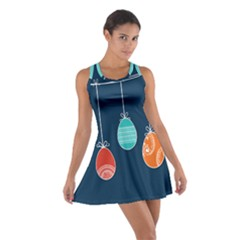 Easter Egg Balloon Pink Blue Red Orange Cotton Racerback Dress by Alisyart