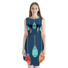 Easter Egg Balloon Pink Blue Red Orange Sleeveless Chiffon Dress   by Alisyart