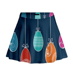 Easter Egg Balloon Pink Blue Red Orange Mini Flare Skirt by Alisyart