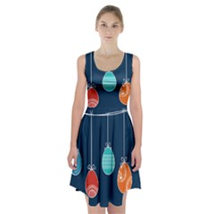 Easter Egg Balloon Pink Blue Red Orange Racerback Midi Dress by Alisyart