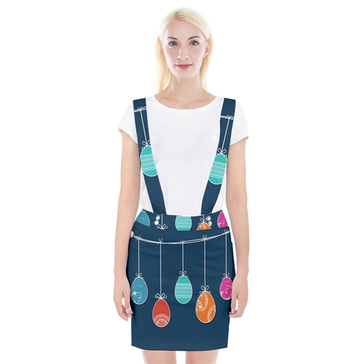 Easter Egg Balloon Pink Blue Red Orange Suspender Skirt