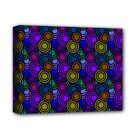 Circles Color Yellow Purple Blu Pink Orange Deluxe Canvas 14  X 11  by Alisyart