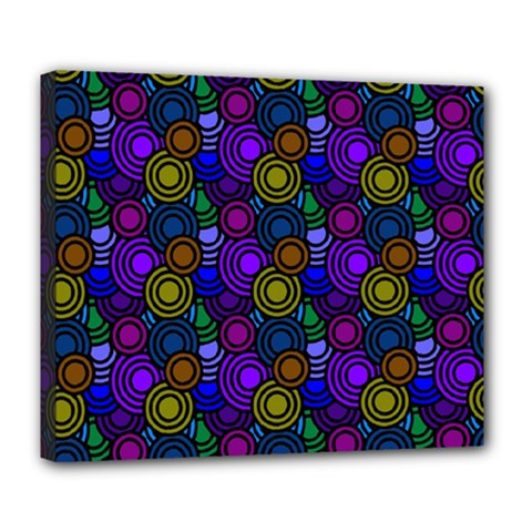 Circles Color Yellow Purple Blu Pink Orange Deluxe Canvas 24  X 20
