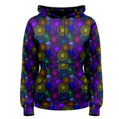 Circles Color Yellow Purple Blu Pink Orange Women s Pullover Hoodie