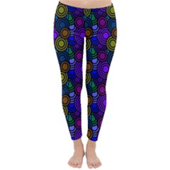 Circles Color Yellow Purple Blu Pink Orange Classic Winter Leggings