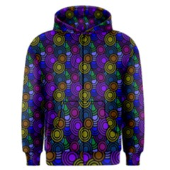 Circles Color Yellow Purple Blu Pink Orange Men s Zipper Hoodie by Alisyart