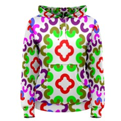 Decoration Red Blue Pink Purple Green Rainbow Women s Pullover Hoodie