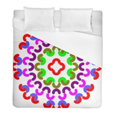 Decoration Red Blue Pink Purple Green Rainbow Duvet Cover (full/ Double Size) by Alisyart