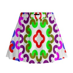 Decoration Red Blue Pink Purple Green Rainbow Mini Flare Skirt by Alisyart
