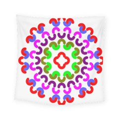 Decoration Red Blue Pink Purple Green Rainbow Square Tapestry (small)