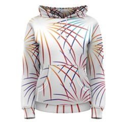 Fireworks Orange Blue Red Pink Purple Women s Pullover Hoodie
