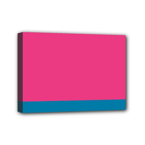 Flag Color Pink Blue Mini Canvas 7  X 5  by Alisyart