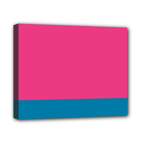 Flag Color Pink Blue Canvas 10  X 8  by Alisyart