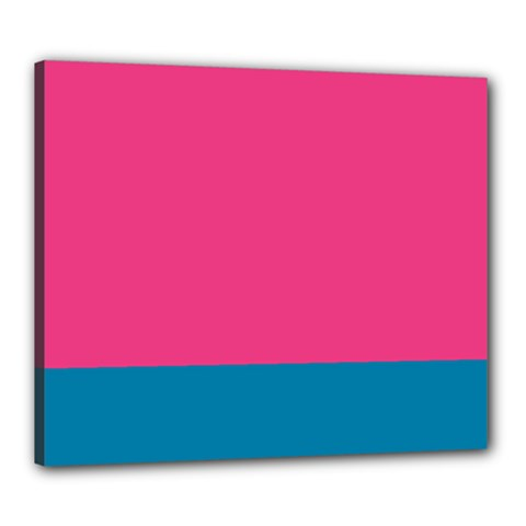 Flag Color Pink Blue Canvas 24  X 20  by Alisyart
